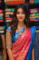 Puja Hegde looks stunning in Red saree at launch of Anutex shopping mall ~ Celebrities Galleries 062.JPG