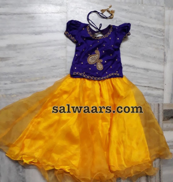 Purple and Yellow Kids Frock