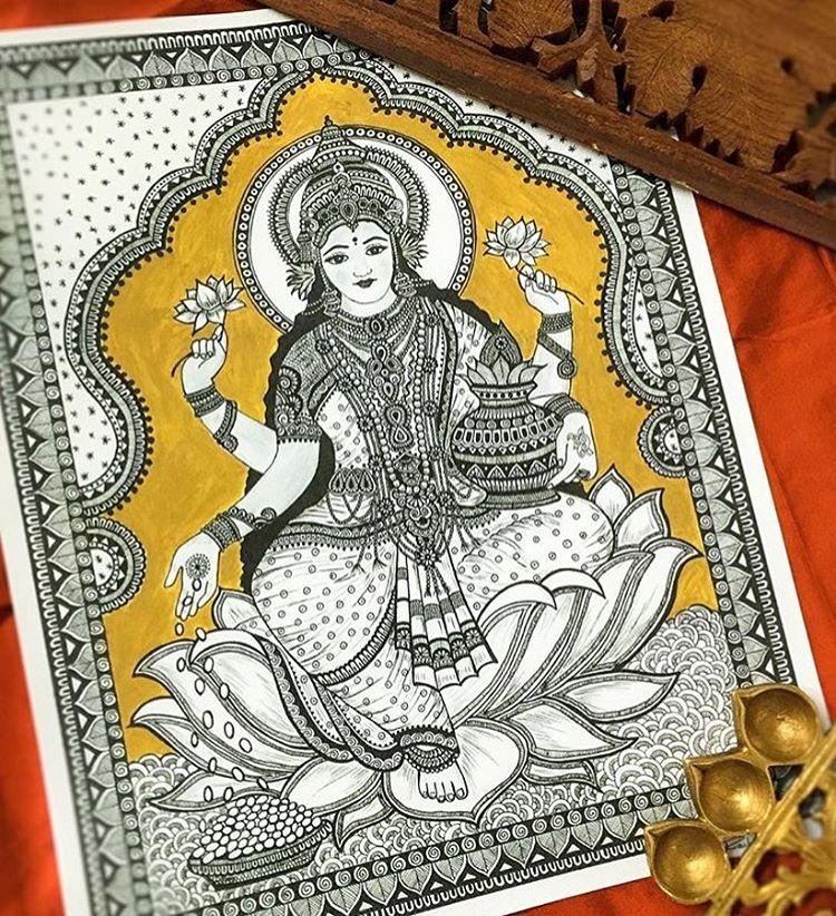 03-Dhanteras-Rashmi-Krishnappa-Calm-and-Serenity-in-Balanced-Pen-drawings-www-designstack-co