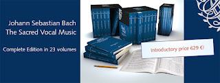 Edición completa de la Obras Vocales Sacras de Bach, publicadas por la editorial Carus Verlag.