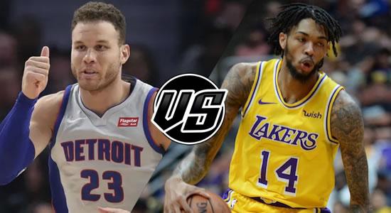 Live Streaming List: Detroit Pistons vs LA Lakers 2018-2019 NBA Season