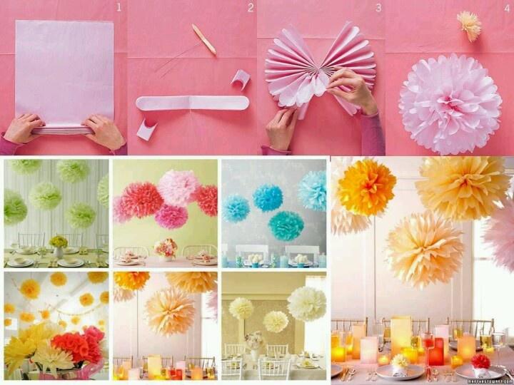 Decoracin de infantil con papel crepe decorar fiestas for Decoracion con cenefas de papel