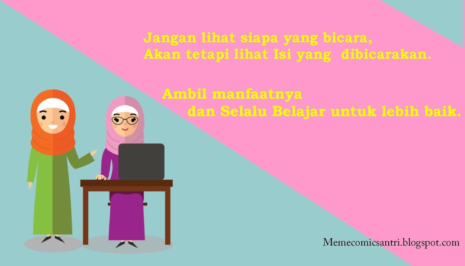 Kumpulan Gambar Kartun Muslimah Dengan Kata Kata Hikmah Kantor Meme