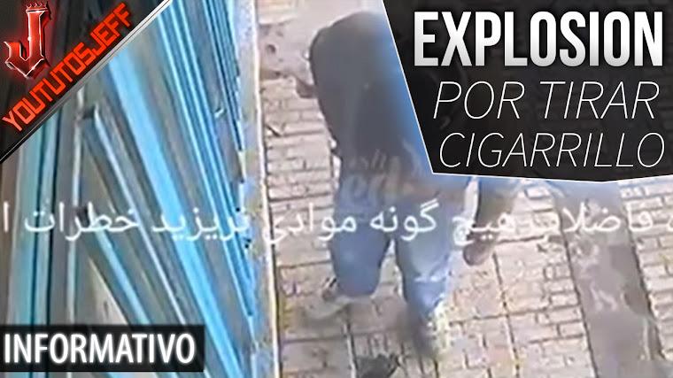 Tira un cigarrillo y causa una tremenda explosion