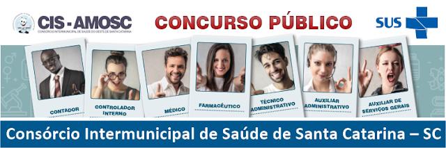 Concurso CIS AMOSC SC 2018 - Apostila Todos os Cargos