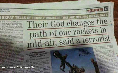 Periódico judío informa que Dios protege a Israel