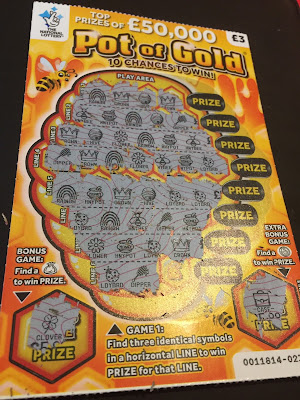 £3 Pot of Gold National Lottery Scratch Card