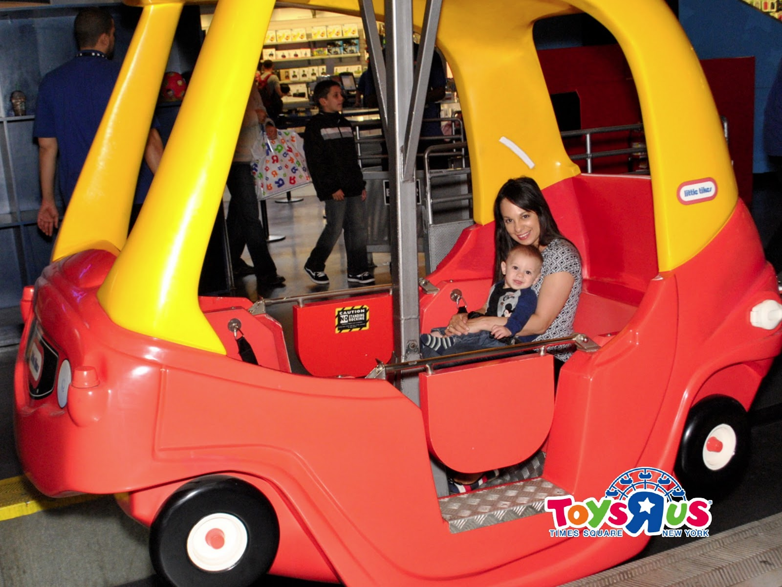 Phoenix s Baby Book Club Riding the Ferris Wheel at Toys R Us