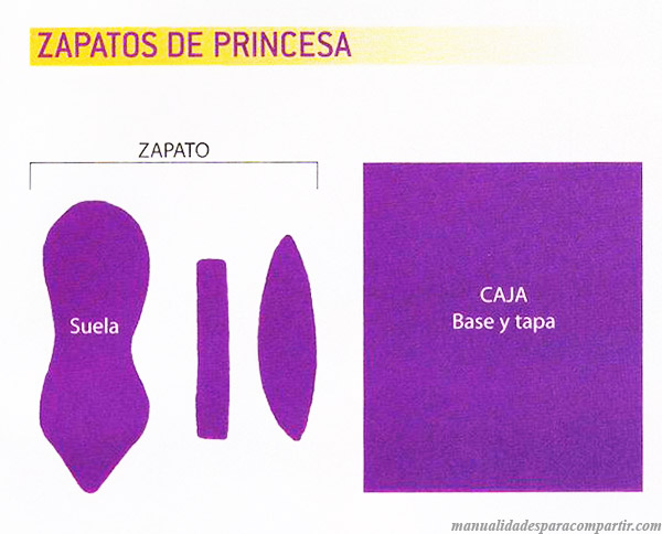 Model de Souvenirs de Porcelana Fria Zapatitos de Princesa paso a paso.