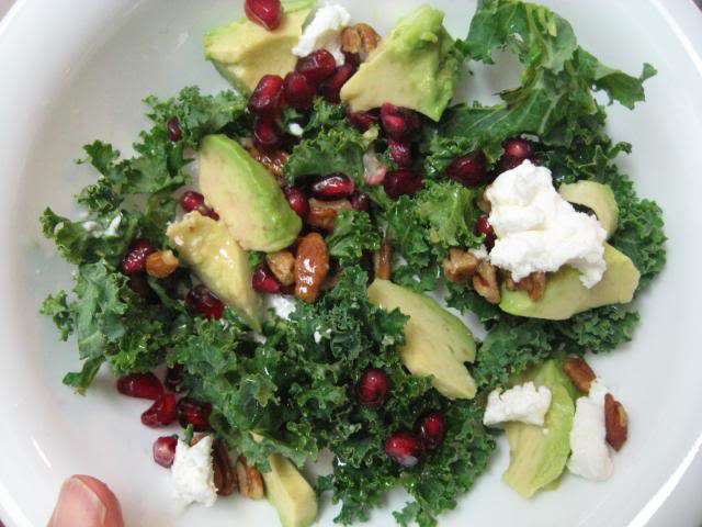 nannykim's recipes: Kale salad with goat cheese and ...