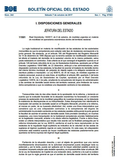 Recortes de econom a boe real decreto 15 2017 medidas for Clausula suelo real decreto 1 2017