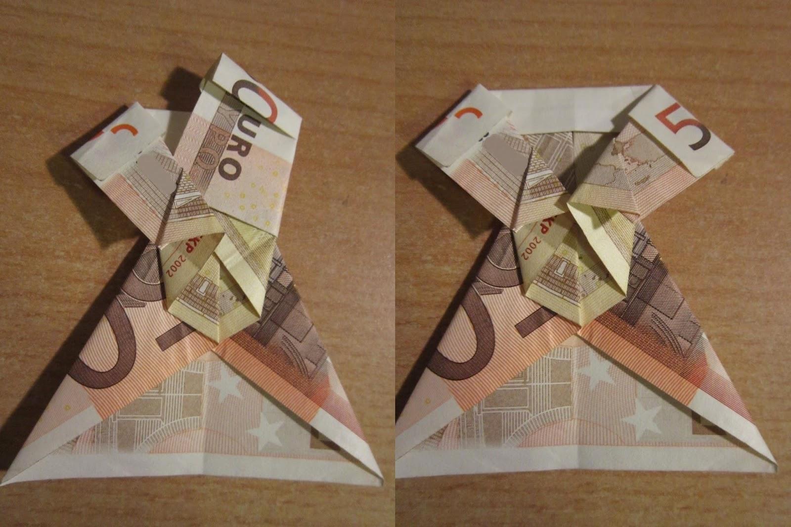 jacke geldschein falten