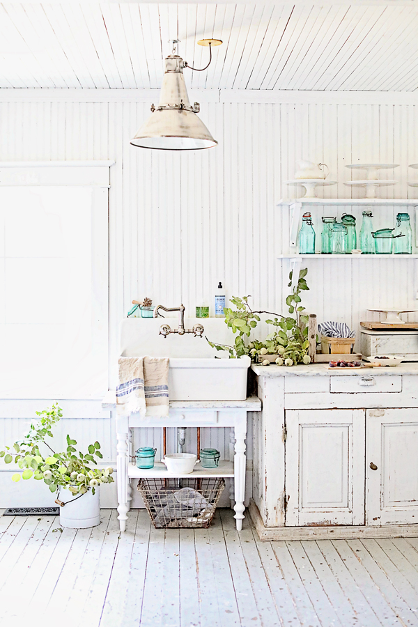 The Butler's Pantry, Farrow & Ball All White, and French Canning Jars