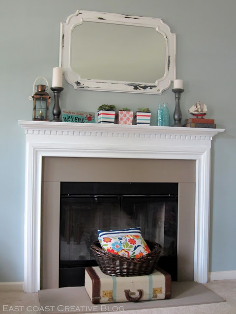 Simple Fireplace Upgrade Annie Sloan Chalk Paint