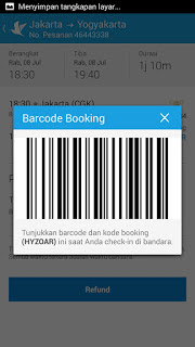 Gunakan Barcode Untuk Boarding Pass