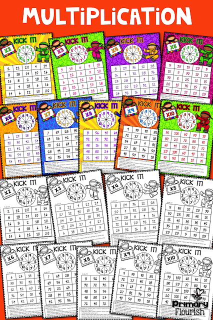 Math Fact Fluency – Multiplication Ninjas Here is a great CCSS Aligned resource for your classroom! 3.OA.C7  These games will make practicing multiplication facts so fun for your students!  All 9 'Kick It' games follow the same format & rules – this will make introducing them to your students so much easier! The 'Kick It' game is played like 'Bump'.