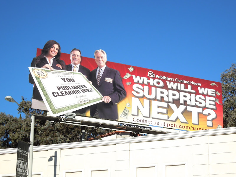 Publishers Clearing House surprise billboard