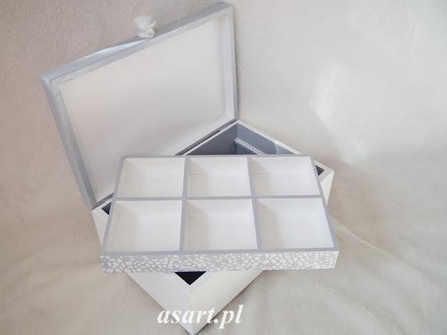 szkatułka na biżuterie decoupage