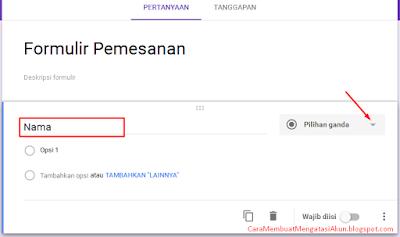 cara kerja google form
