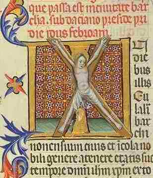Mujeres crucificadas Crucified women santa eulalia