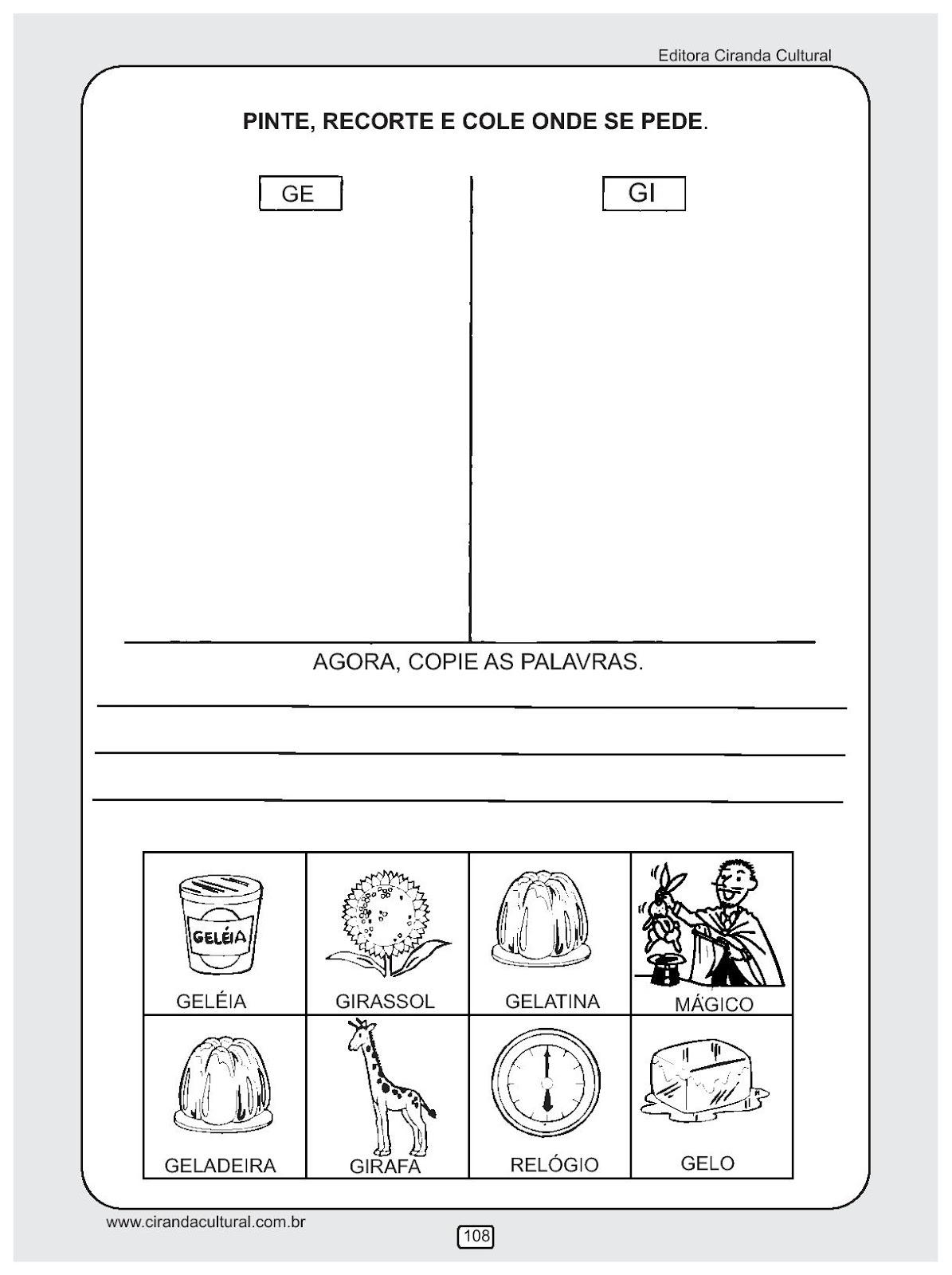 Educacao Infantil Atividades De Alfabetizacao Para Imprimir Iv