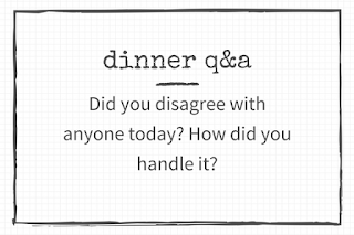 30 Questions to ask: Did you disagree with anyone today?