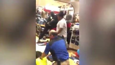 Bebê leva sapatada durante briga generalizada na Black Friday