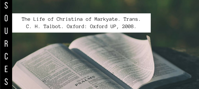 Summary of The Life of Christina of Markyate Author Unknown Sources