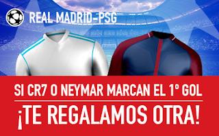 sportium promocion Real Madrid vs PSG champions 14 febrero