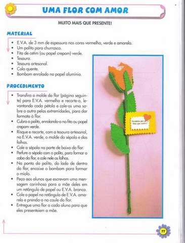 Flor Lembrancinha para o Dia das Mães