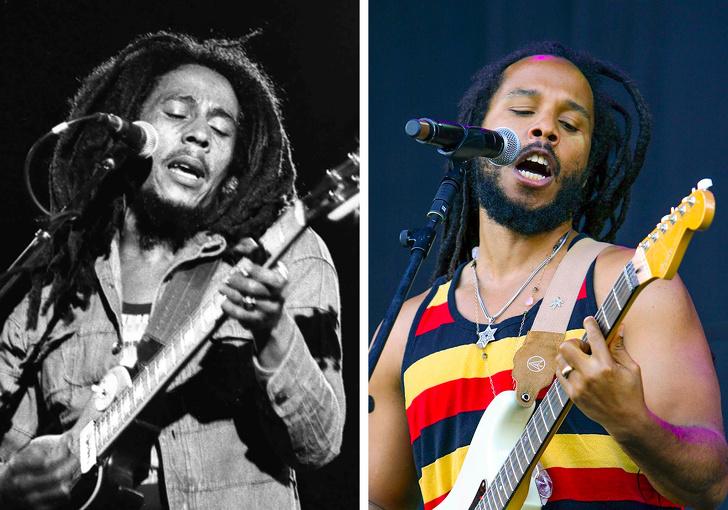 Bob Marley e seu filho Ziggy