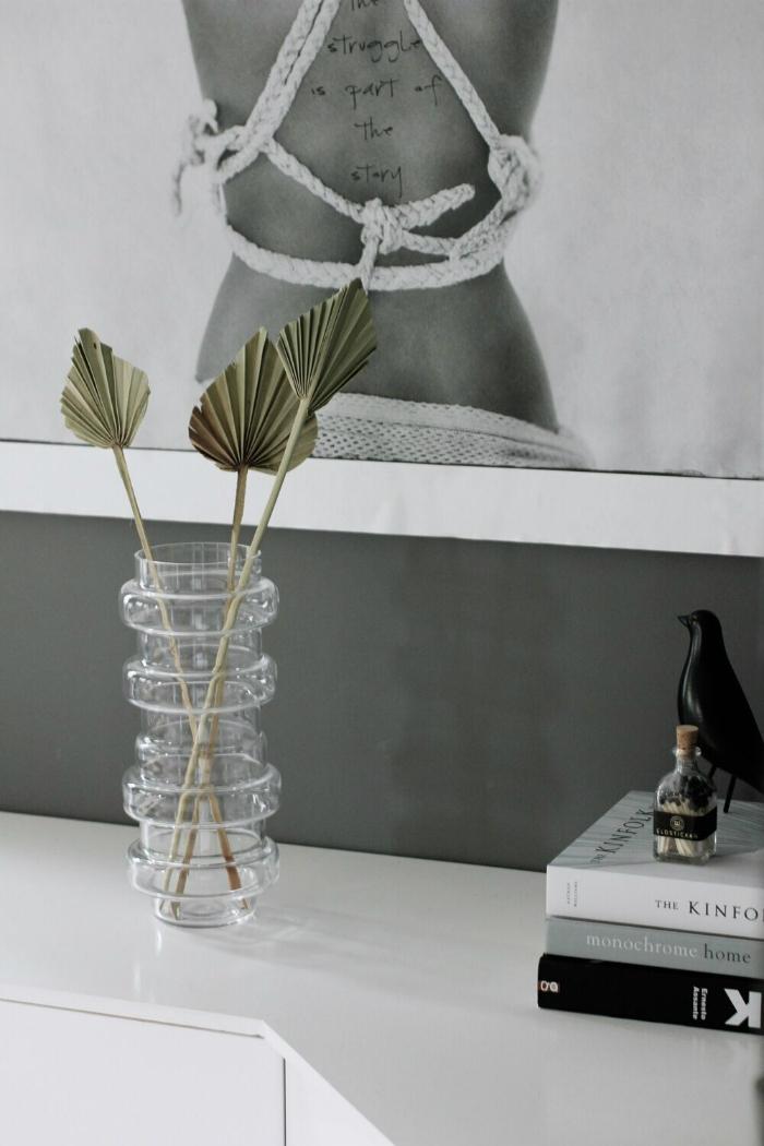annelies design, webbutik, webbutiker, inredning, palm, palmblad, naturblomma, torkade växter, torkade blommor, vas, vako, fågel, fåglar, eldstickan, tändstickor, i flaska,