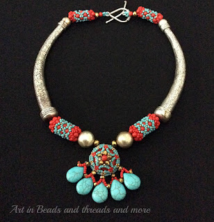 Coral n Turquoise necklace