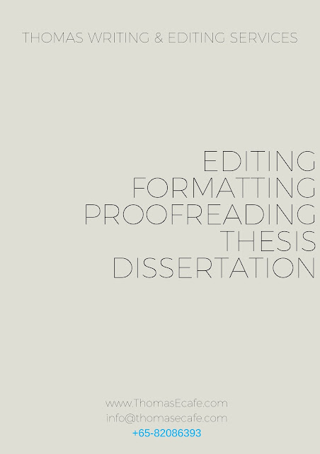 Thesis Editing, Formatting, and Proofreading services in Singapore