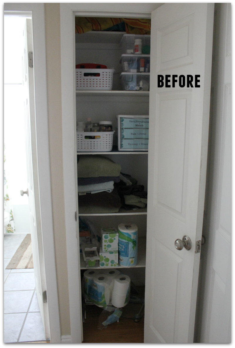 This Linen Closet Is Where We Keep Our Towels, Extra Toiletries And  Medicine. Our Medicine Has Been Kept In A Variety Of Places Over The Years  As Weu0027ve ...