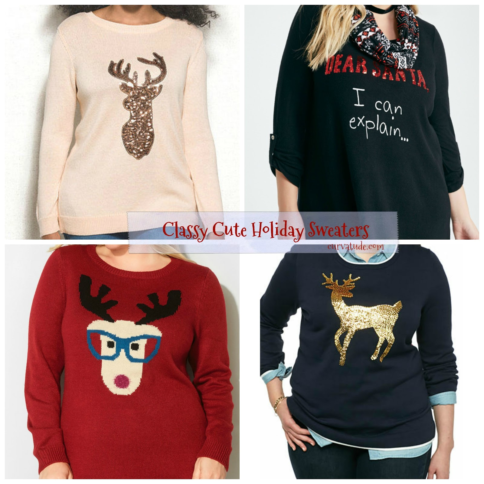 5b8fbeb35e4c Fashion  Classy Cute Plus Size Holiday Sweaters • Curvatude
