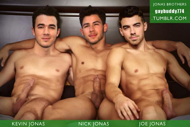 Handsome naked gay men