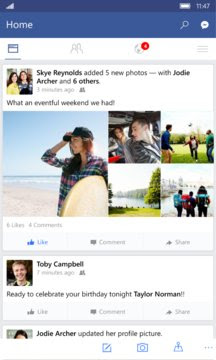 Download Facebook APPX For Windows Phone