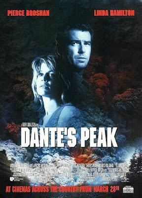 góra dantego plakat recenzja filmu pierce brosnan linda hamilton