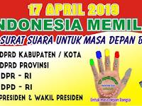 Download Contoh Spanduk Sosialisasi Pemilu 2019 Format CDR