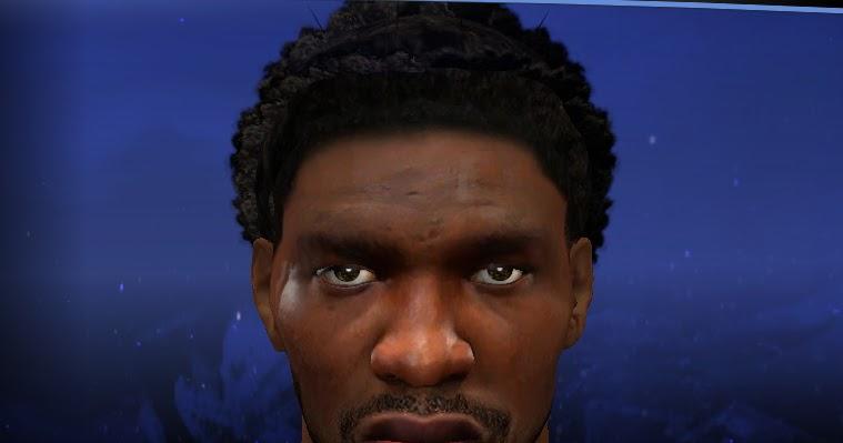 Joel Embiid Cyberface Realistic W/ Updated Hair [For 2K14 ...