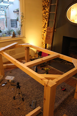 Table Frame with Supports