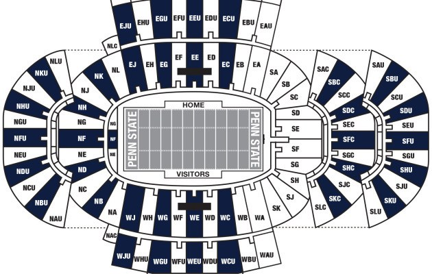 Beaver Stadium University Park Tickets Schedule Seating Chart