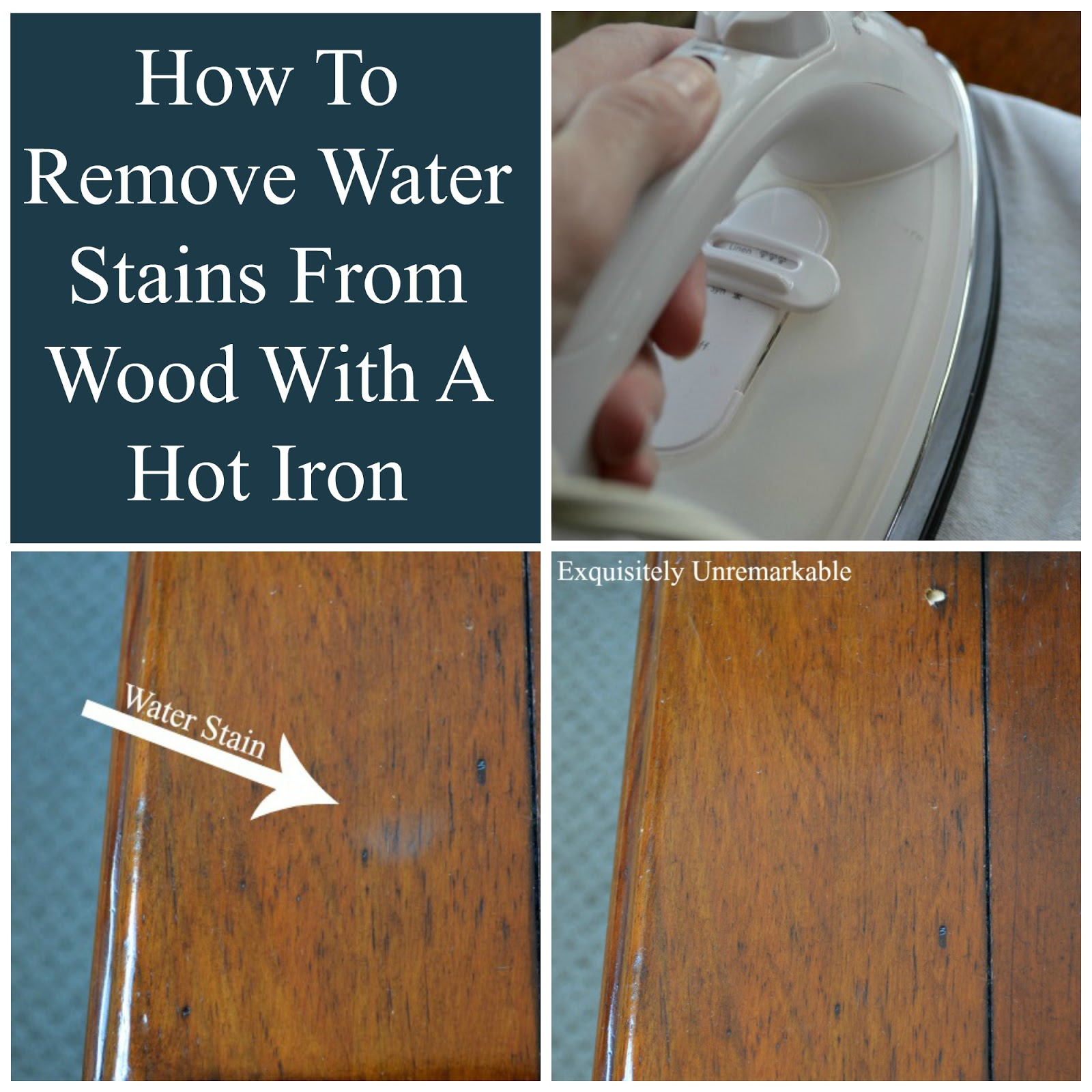 how to remove water stains from wood exquisitely unremarkable. Black Bedroom Furniture Sets. Home Design Ideas