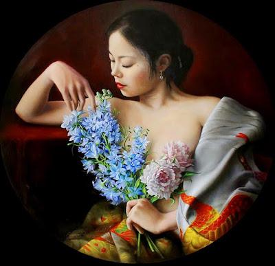flores-y-retratos-femeninos-pintura-realista