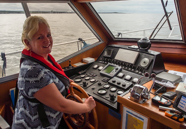 Photo of Me at the helm of Ravensdale