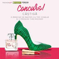 Castiga o pereche de pantofi cu toc Condur si doua produse Yves Rocher