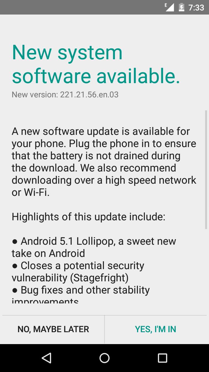 Official Stock Lollipop(5 1) Update For Moto G XT1033 Stock ROM