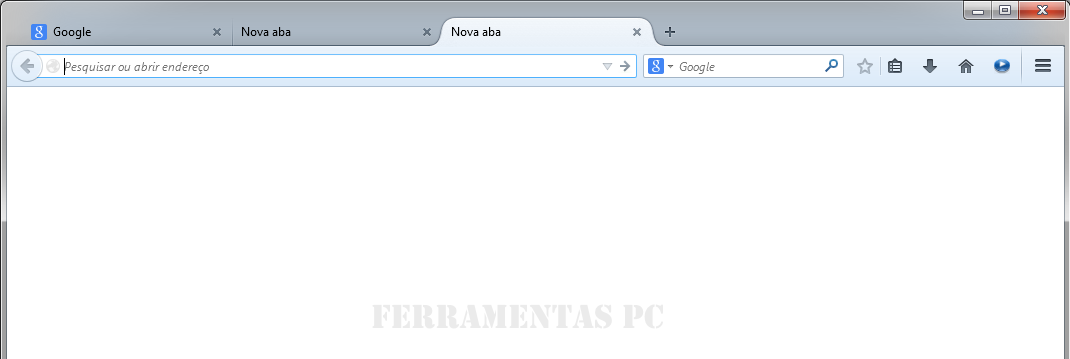 Firefox - Aba com about:blank