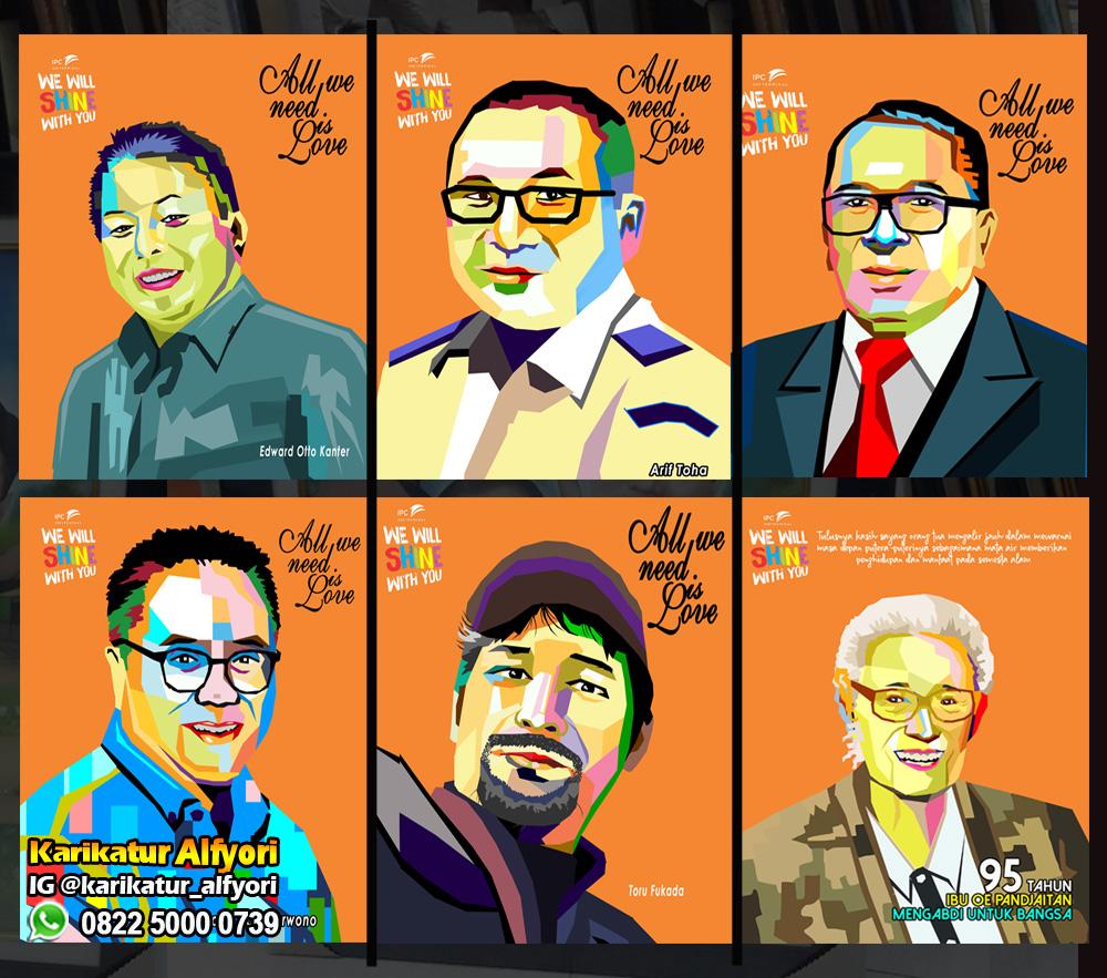 Jasa Karikatur Jasa Pembuatan Karikatur Jasa WPAP Cepat Depok Jakarta